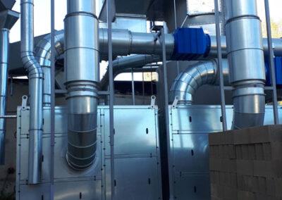 Nettoyage évacuation d'air